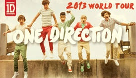 one direction 2013 world tour in san jose and oakland. i would die. i would literally on the floor die.