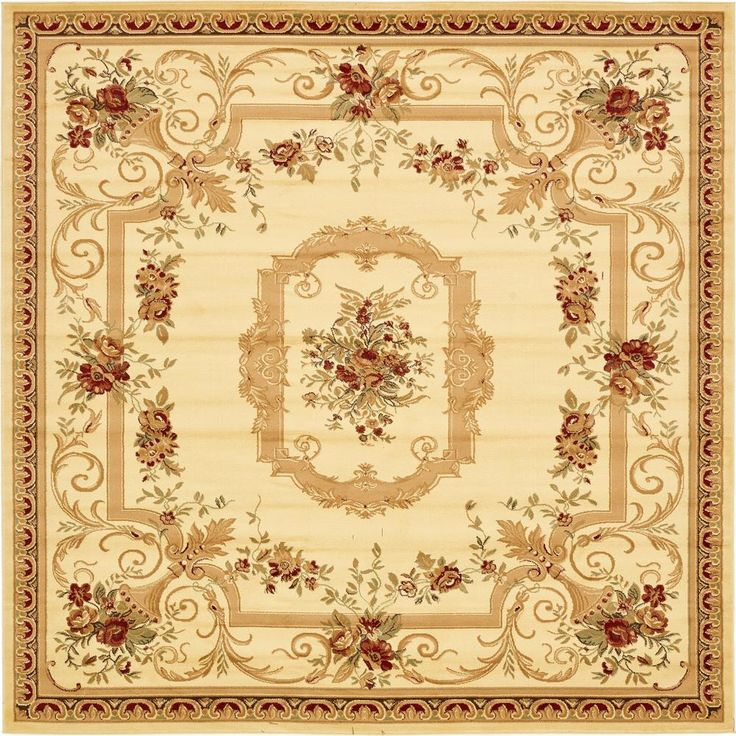 Traditional Versailles Cream (Ivory) 10 Ft. X 10 Ft. Square Rug