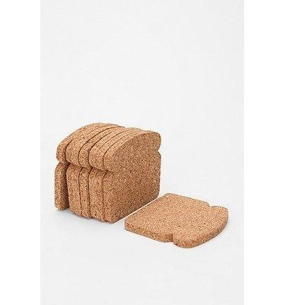 Toasted CoasterUrbanoutfitters, Ideas, Urban Outfitters, Coasters Sets, Toast Coasters, Products, Diy, Corks Coasters, Breads Coasters