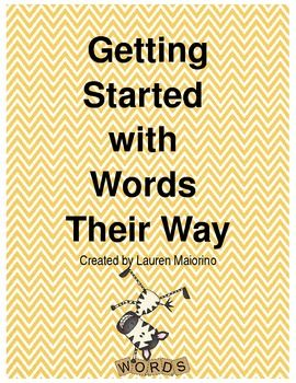 Getting Started with Words Their Way