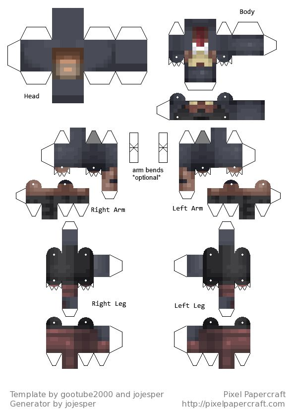 Pixel papercraft схемы