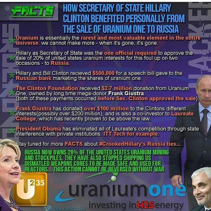 This shit makes my head spin. Theyre worried about bump stocks and their selling Uranium to the Russians? The double standards the left run on confuse me. Stealing Mineral rights from rightful land owners (that are still sitting in jail) and awarding mining contracts to foreign governments. Treasonous!