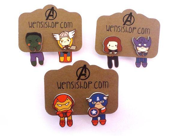 Cuties Assemble Cling Earrings by nerdgirlwensi on Etsy