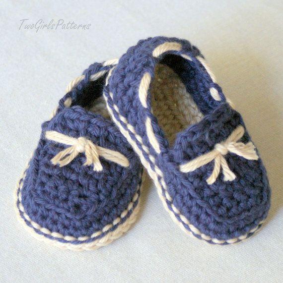 PATRÓN de ganchillo 120 bebé Lil' mocasines por TwoGirlsPatterns