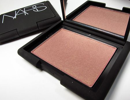 NARS Blush in Sin. I love this blush, it's a beautiful berry with gold shimmer. I practically used it everyday during the cooler months.