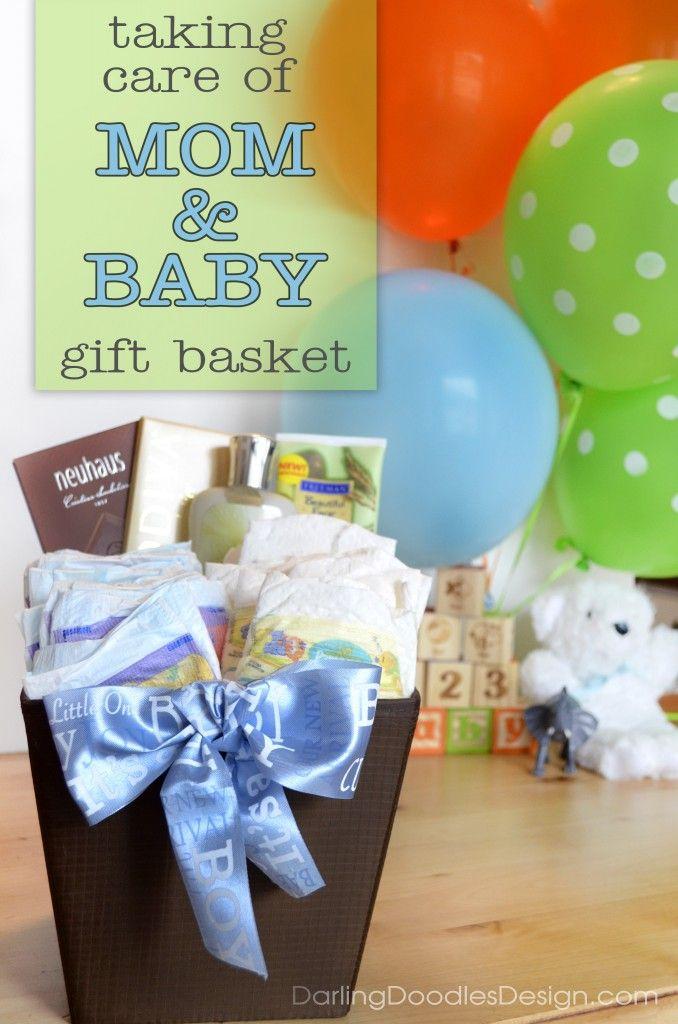 Mom and Baby Gift Basket with Printable Tag