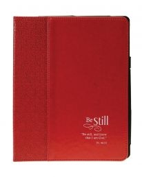 IPAD SLEEVE:  BE STILL AND KNOW (IPC009). Available @ Faith4u Book and GIFT shop, Secunda. South Africa. Phone (017 34 7833 x 3) or email [faith4u@kruik.co.za] us to find out if we have stock in store. We can also place orders. Shalom Tilly and Odette