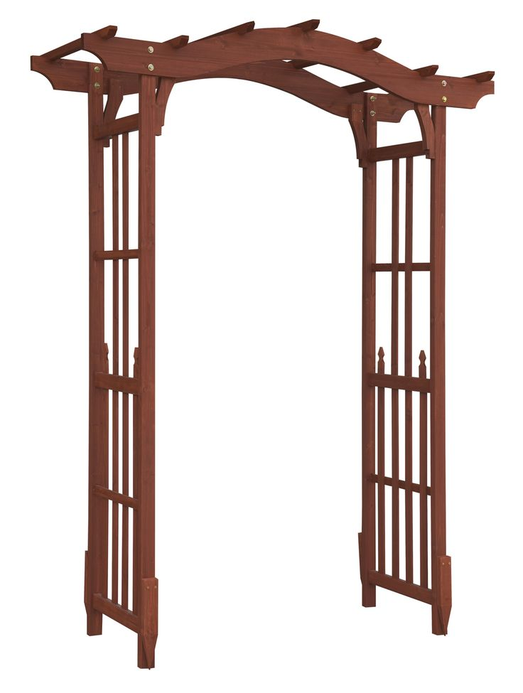 Features: -Chinese fir wood construction. -Built-in-trellis. -Complements outside door. -Classic design. -Easy assembly instructions. -Oxford collection. --The sturdy deluxe garden arbor will a