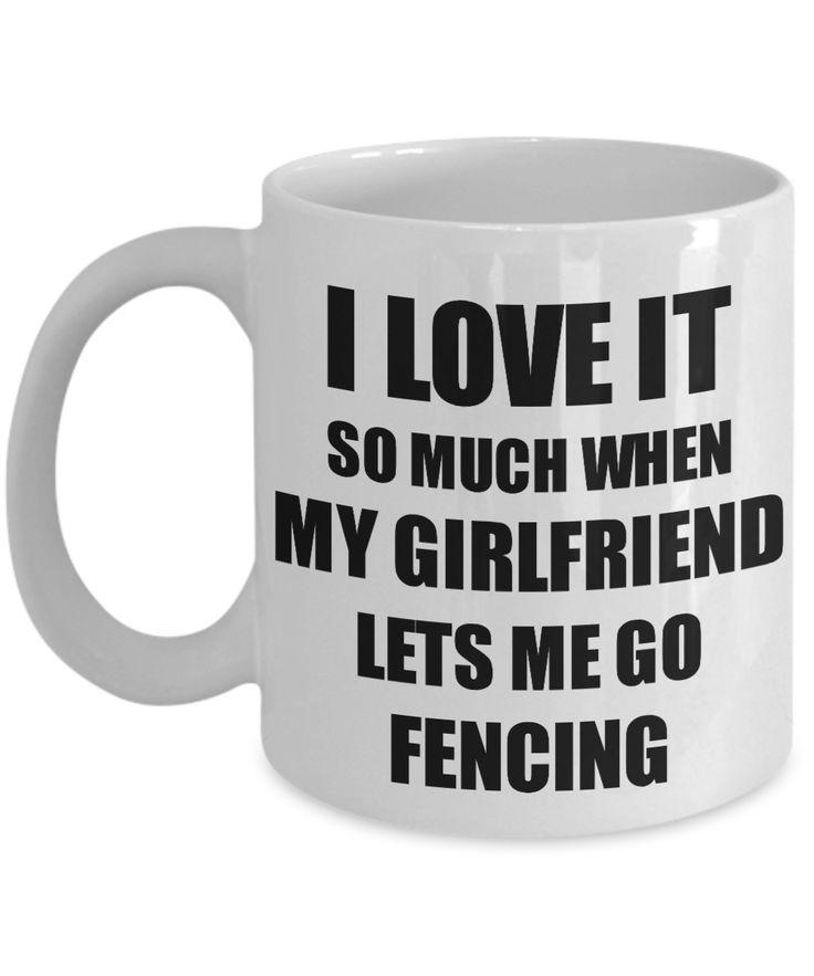 Fencing Mug Funny Gift Idea For Boyfriend I Love It When My Girlfriend Lets Me Novelty Gag Sport Lover Joke Coffee Tea Cup, this hilarious coffee mug …