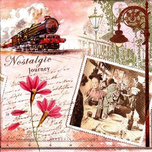 Szalvéta i4031 Nostalgic Journey - Szalvétaüzlet - Szalvéták és decoupage kellékek árusítása nagy választékban.