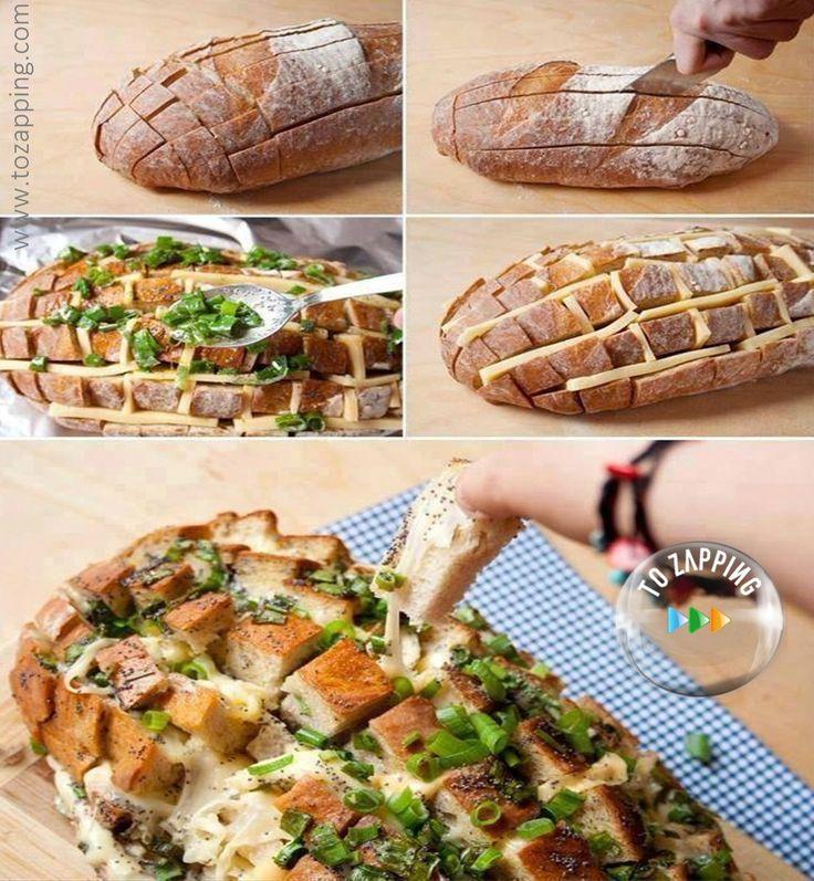 Pan relleno de queso