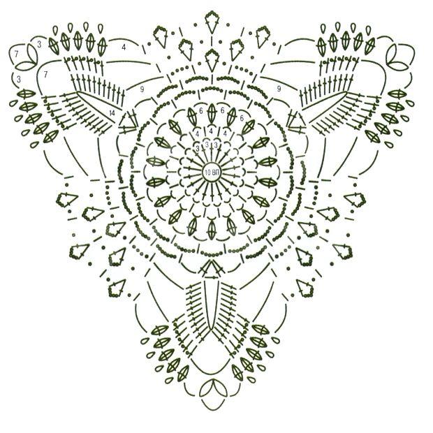 crochet triangle motif
