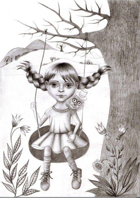 Pipi, drawing, www.zuzanadolinay.com