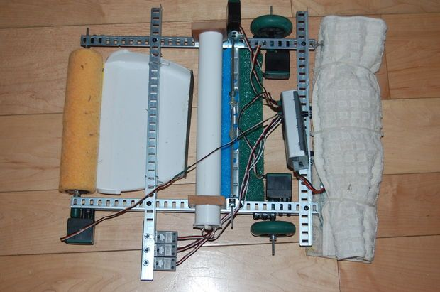 Picture of Floor Cleaning Robot with Vex Robotics System