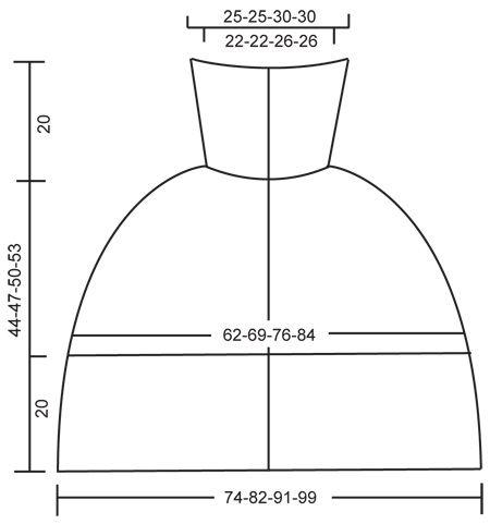 DROPS 116-19 - Poncho corto DROPS en �Polaris� con botones delante, cuello amplio y punto el�stico. Talla S � XXXL. - Free pattern by DROPS Design