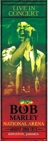 Bob Marley Concert Kingston Jamaica Music Door Poster Pôster para porta