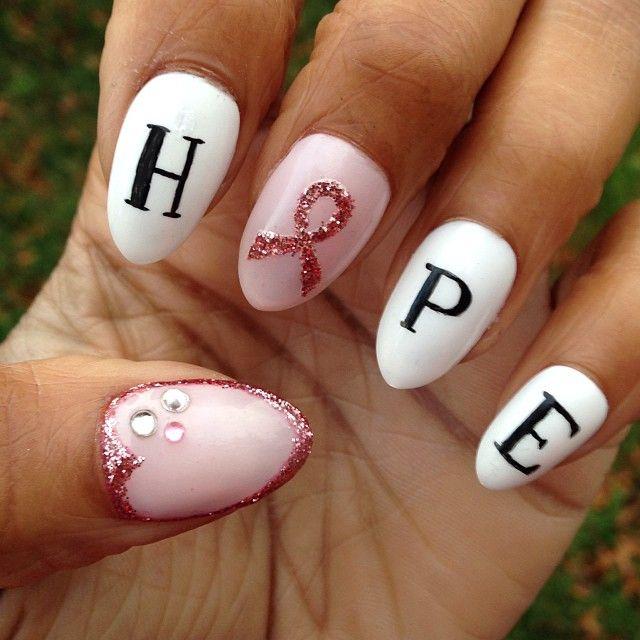 25 beautiful breast cancer nails ideas on pinterest cancer breast cancer awareness by thenailistaproject nail nails nailart prinsesfo Images