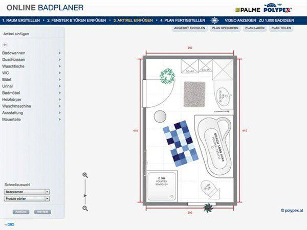 17 Terbaik ide tentang Badplaner Online di Pinterest Badplaner - badezimmerplaner online kostenlos