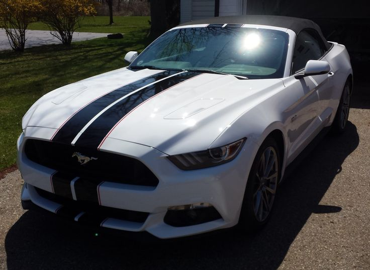 Gloss Black Racing Stripes With Red Accent Stripes