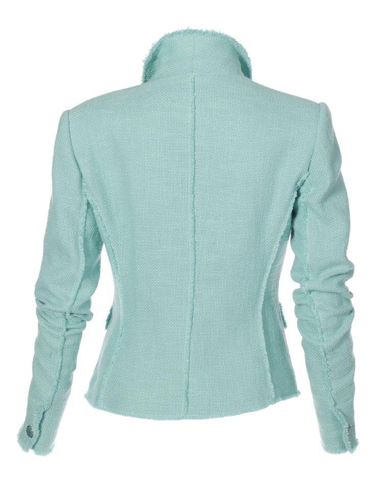 Bouclé-Blazer in der Farbe minze - ohne - im MADELEINE Mode Onlineshop
