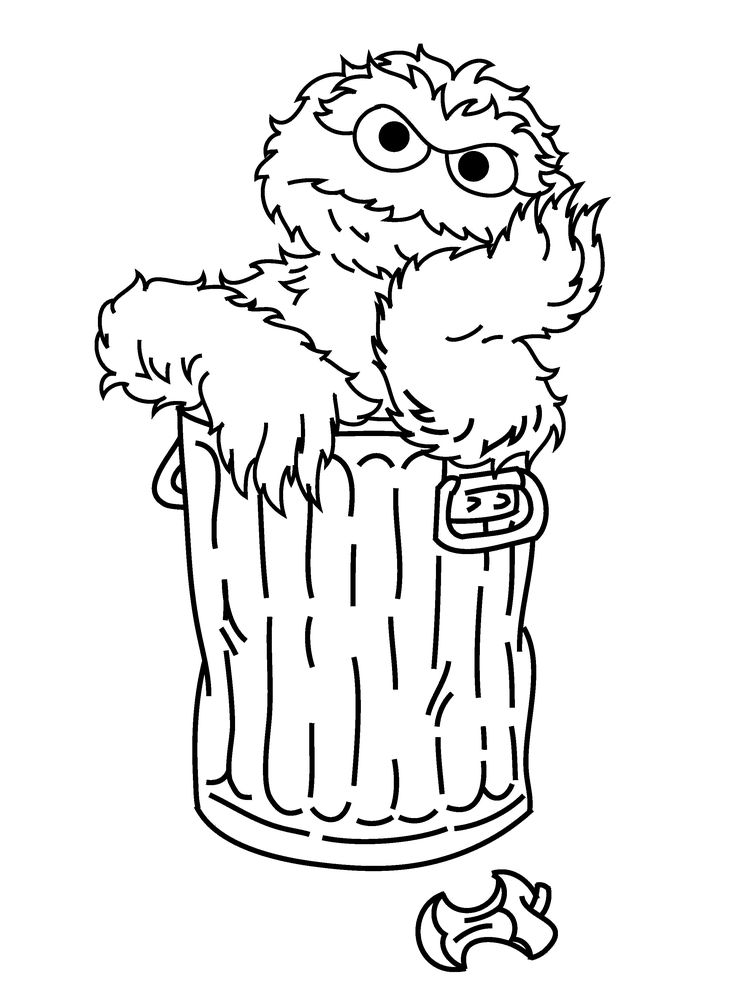 oscar the grouch coloring page - oscar the grouch daydream sesame street coloring pages