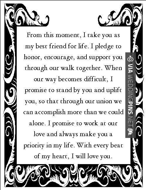 Best 25+ Non religious wedding vows ideas on Pinterest ...