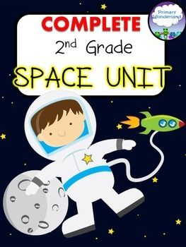 WOW! Your whole Space Unit all in one place! I created this unit for my 2nd graders' (great for 3rd too!) Space Unit covering the Sun, Earth, Moon, and Stars.