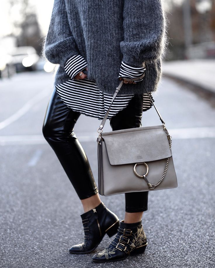 Chloé Faye bag - Chloé Susanna boots - patent leather trousers! Outfit on the blog