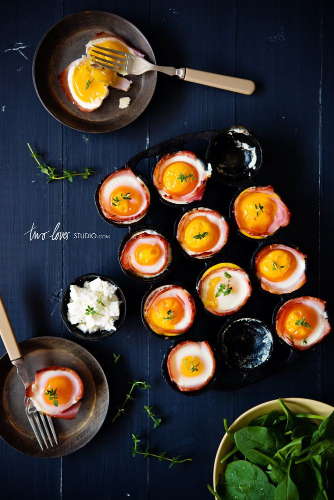 bacon and egg cups from two loves studio