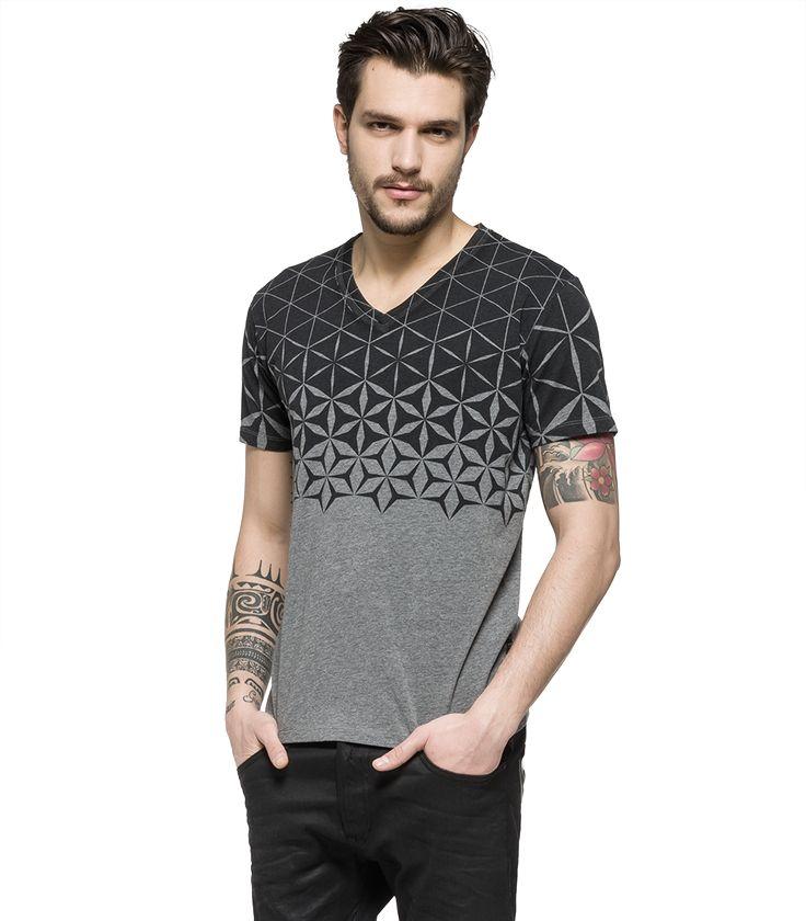 Jersey V-neck T-shirt - Replay