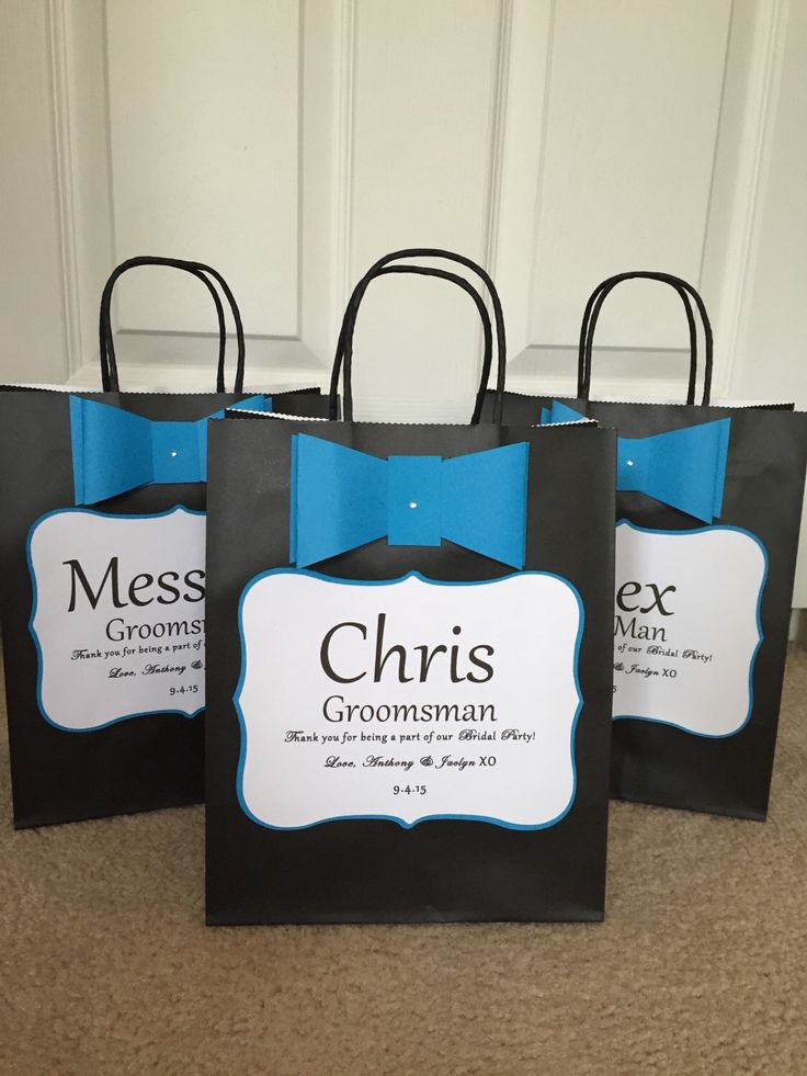Groomsmen Gift Bags on Pinterest Gift bags, Groomsmen wedding gift ...