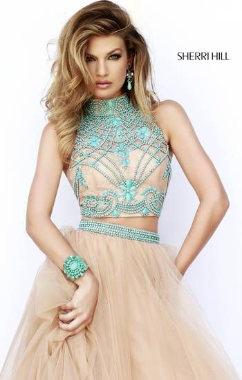 Western two piece with turquoise beading on bodice.....complete with cowboys boots for a county chic look: