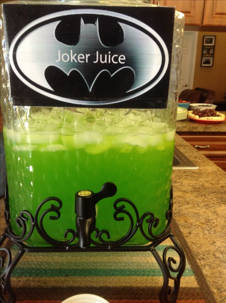 Batman party- joker slime, joker juice