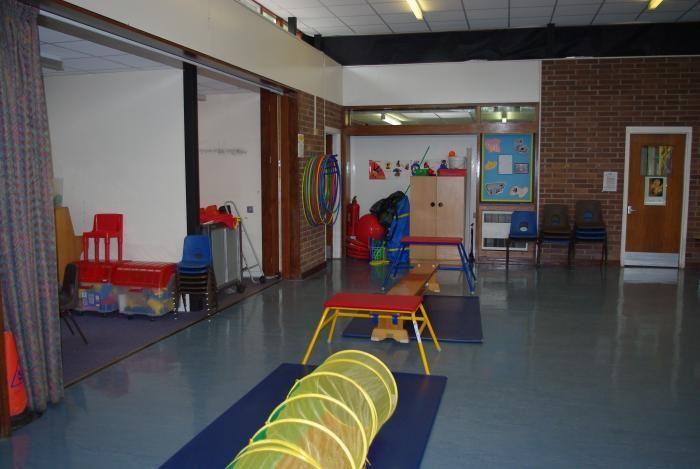 Sala gimnastyczna angielskiego przedszkola
