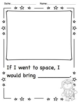 SPACE THEME Activities - Great for INQUIRY on space in kindergarten.