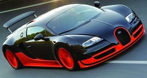 2011 Bugatti Veyron Super Sport  Base Price: $2,400,000.00 Horsepower: 1200 HP 0-60 mph: 2.40 seconds