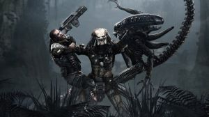 Preview wallpaper aliens, predator, art 1920x1080