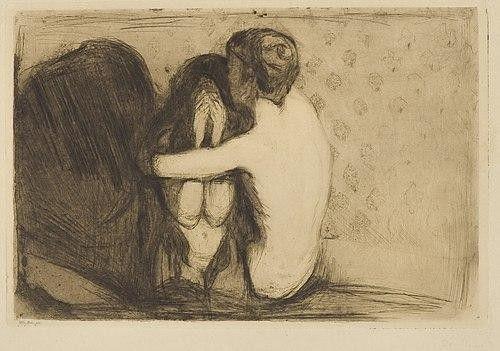 Эдвард Мунк  Утешение  1894