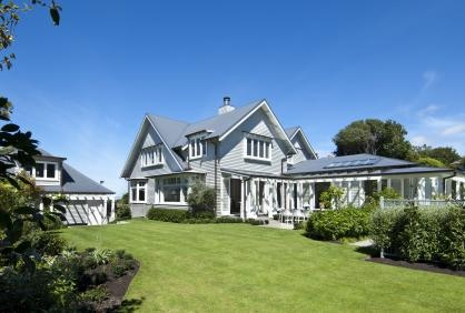 This historic homestead enjoys large grounds and expansive views.