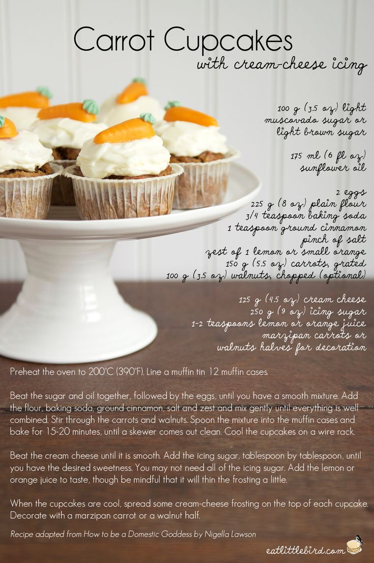 Carrot Cupcakes with Cream Cheese Icing!