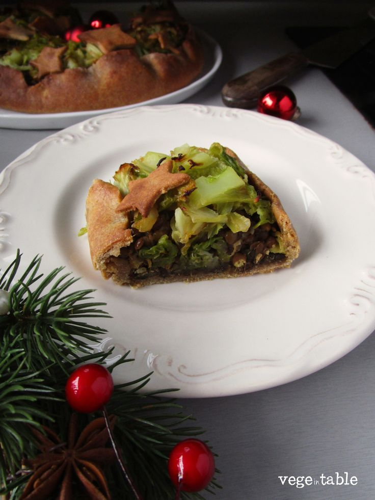 vegeintable: Vegan quiche with sweet potatoes, lentils and savoy cabbage