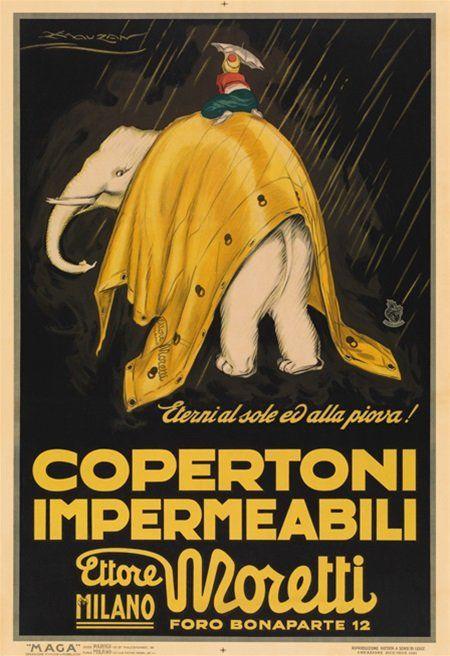 Copertoni impermeabili Ettore Moretti - Milano - 1921 - (A. Mauzan)