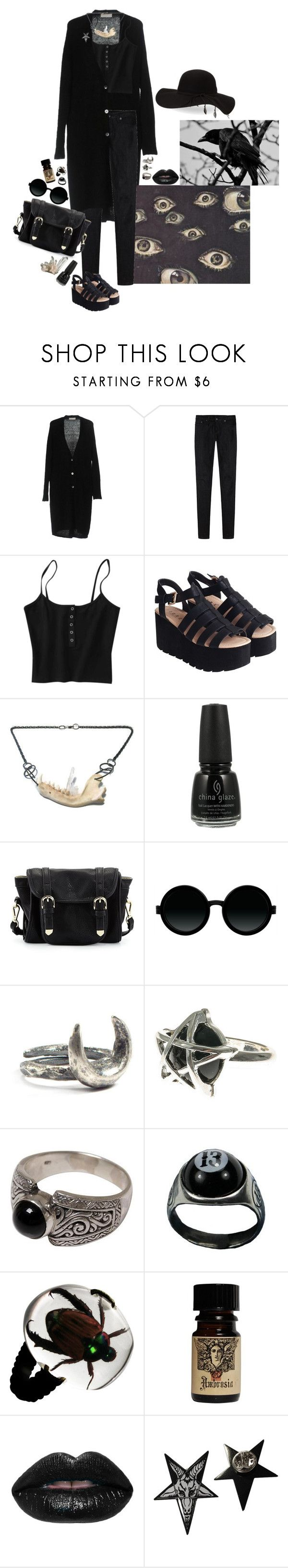 """Untitled #711"" by dust-mite ❤ liked on Polyvore featuring Stefanel, R13, China Glaze, Poverty Flats, Moscot, Dreams of Norway, NOVICA and BCBGeneration"