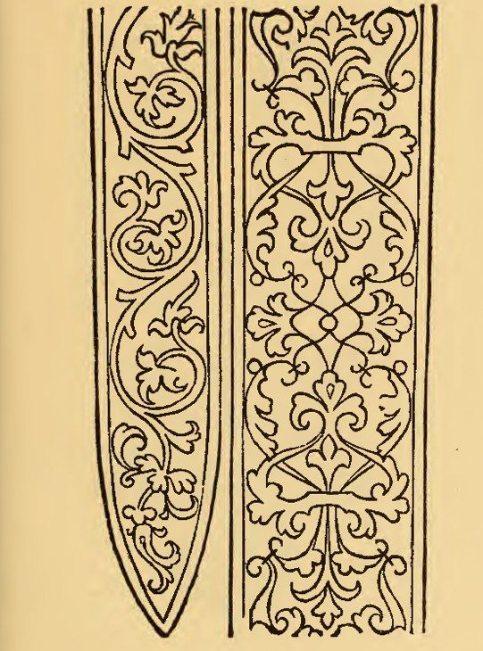 """From the 17th century book """"Il Burato"""". I find this pattern very good for a sword baldrick."""