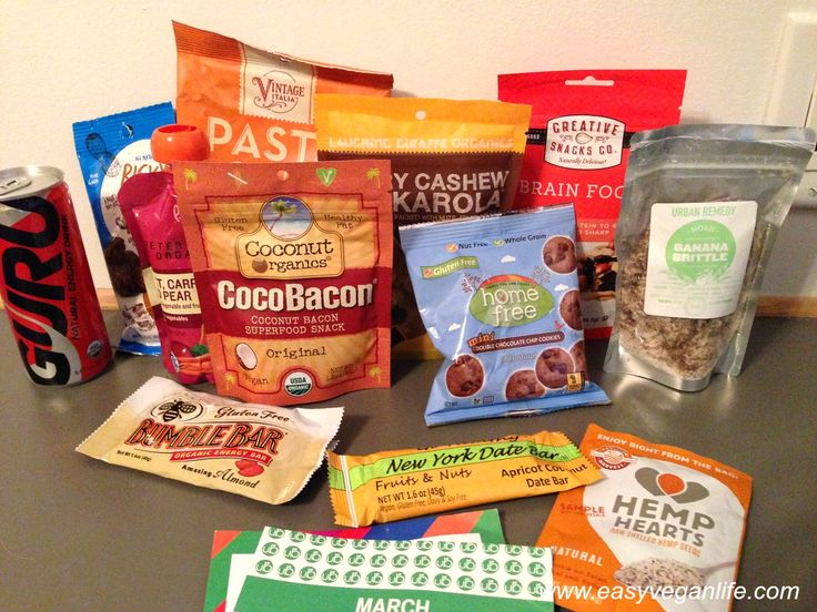 This is the content of the small vegan March 2015 UrthBox