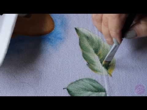 Pintura em tecido Eliane Nascimento: Como eu pinto folhas - YouTube