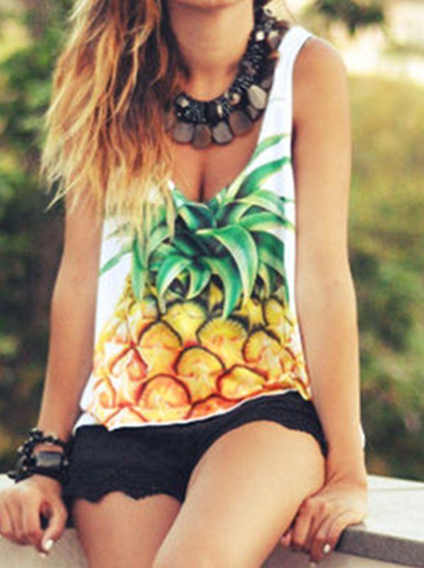 Fashion print trend - Pineapple prints