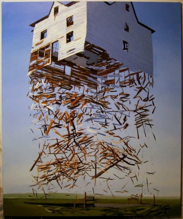 Ben Grassos Exploded Structures painting landscapes exploded