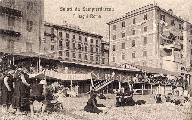 SAMPIERDARENA - Bagni Roma - FOTO STORICHE CARTOLINE ANTICHE E RICORDI DELLA LIGURIA