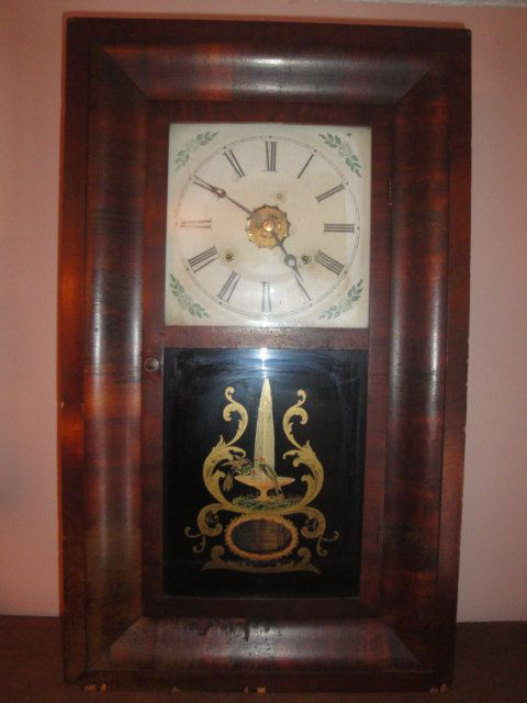 Antique 1800 S Ansonia Clock 30 Hour Weight Driven Hourly